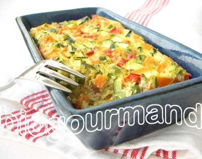 Flan de légumes d'été sur un air de vacances - Blog cuisine bio - Recettes bio Cuisine bio sans gluten sans lait