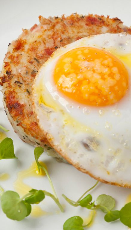 A perfect brunch dish from Adam Gray, this is a creative reinvention of the classic bacon and eggs recipe. You can make the hash well in advance for easy serving, yet the on-trend fried duck egg gives this otherwise humble and inexpensive combo a special richness.