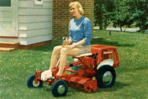 1959 Simplicity Riding Reel Mower.