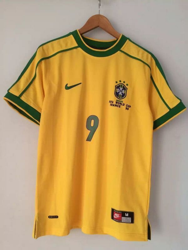 Ronaldo  9 Brazil 1998 World Cup Retro Soccer Jersey Classic Football Shirt 1f05ea9be0a7a