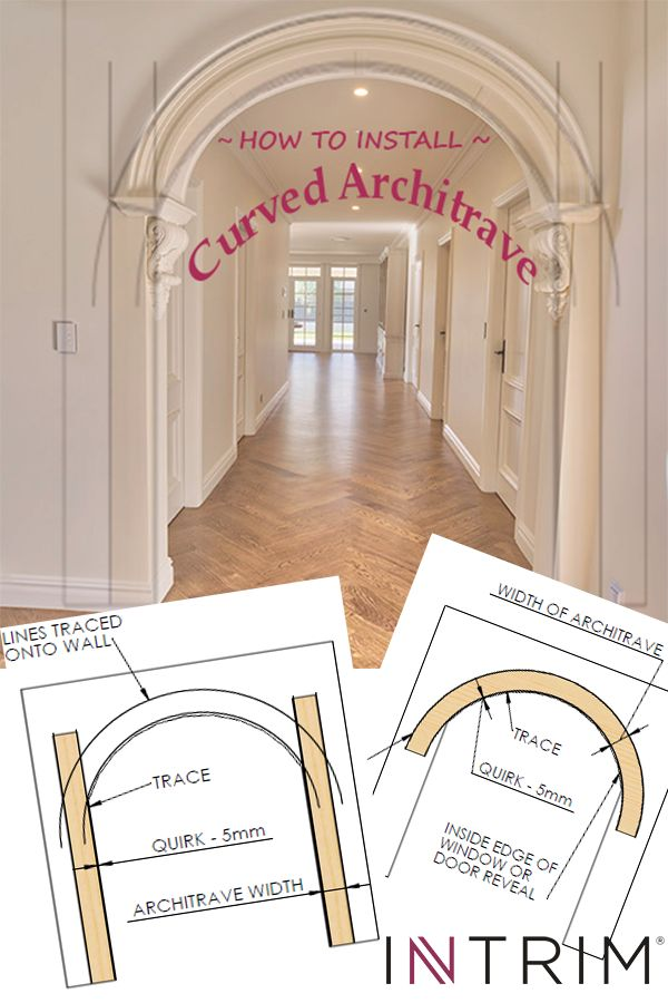Thinking about redesigning your home interior? Don't underestimate the impact a curved architrave can have on the character of your space. Our step by step instructions help you design & install like a pro!