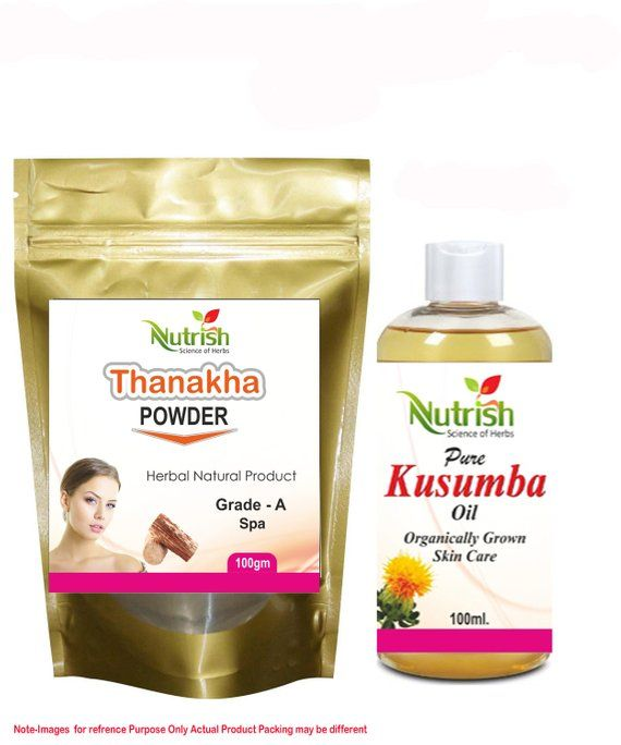 Thanaka Powder Herbal Grade A And Kusumba Oil For Hair Removal Permanent By Nutrish Hair Removal Hair Oil Hair Removal Diy