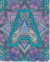"""Alphabet coloring page from """"Color the Alphabet"""" by Sarah Renae Clark. Colored by Tricia Abbott"""