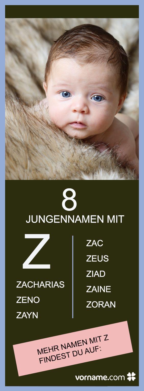 """Wir haben die schönsten Jungennamen mit """"Z"""" für Euch zusammen gestellt."""