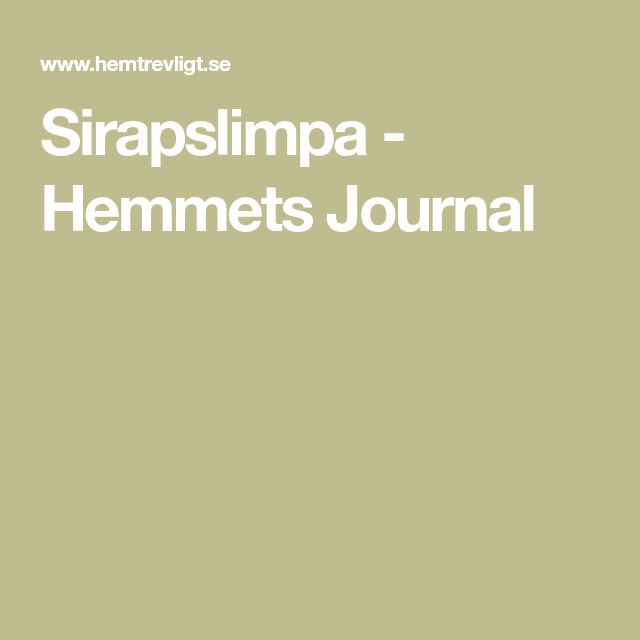 Sirapslimpa - Hemmets Journal