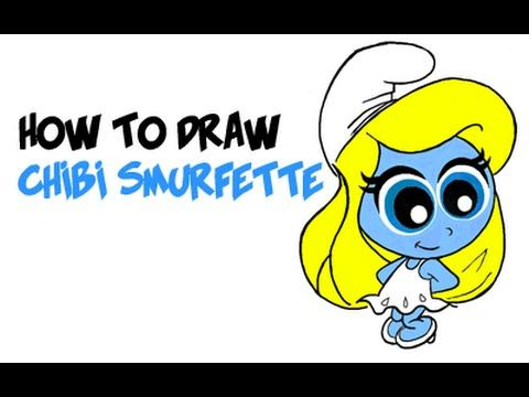 how to draw smurfette step by step
