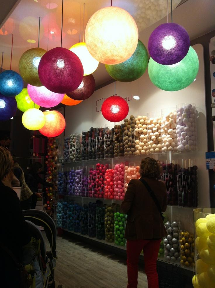 Wool lights in Nizza
