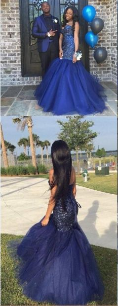 Royal Blue Mermaid Beading Prom Dress,Long Prom Dresses,Charming Prom Dresses,Evening Dress, Prom Gowns, Formal Women Dress,prom dress