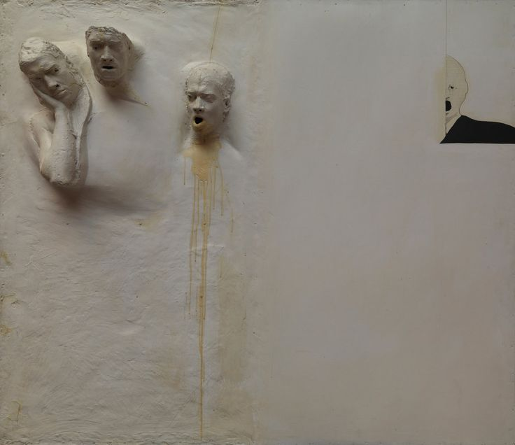 The mold for Six Men Getting Sick, 1967. From Rodger LaPelle and Christine McGinnis, Philadelphia. Taken from the New York Times article, David Lynch on His First Retrospective of Original Artwork by Phoebe Hoban
