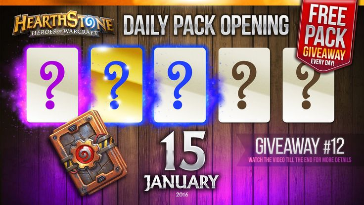 FREE Pack Giveaway #12 / Epic, Golden Rare & Rare Cards! Hearthstone Pac...