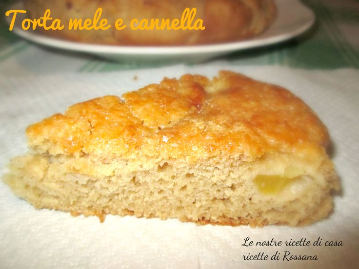 Torta mele e cannella, ottima per la colazione, leggera, light e senza uova, senza latte e senza burro, praticamente #vegana