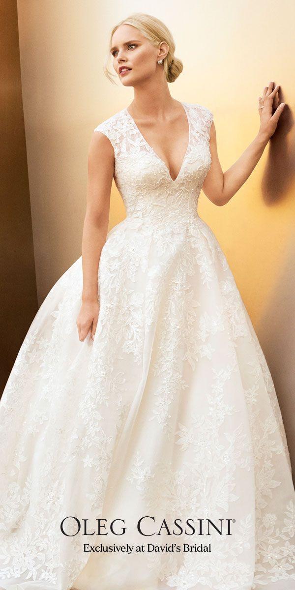 Oleg Cassini One Shoulder Wedding Gown – fashion dresses