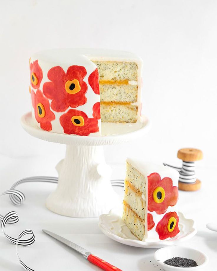 cómo decorar pasteles pintados a mano, Sprinkle Bakes