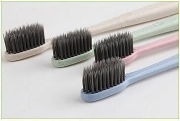 Ultra Soft Charcoal Toothbrush Wheat Healthy Oral Hygiene Brush Clean Care Oral Health Dental