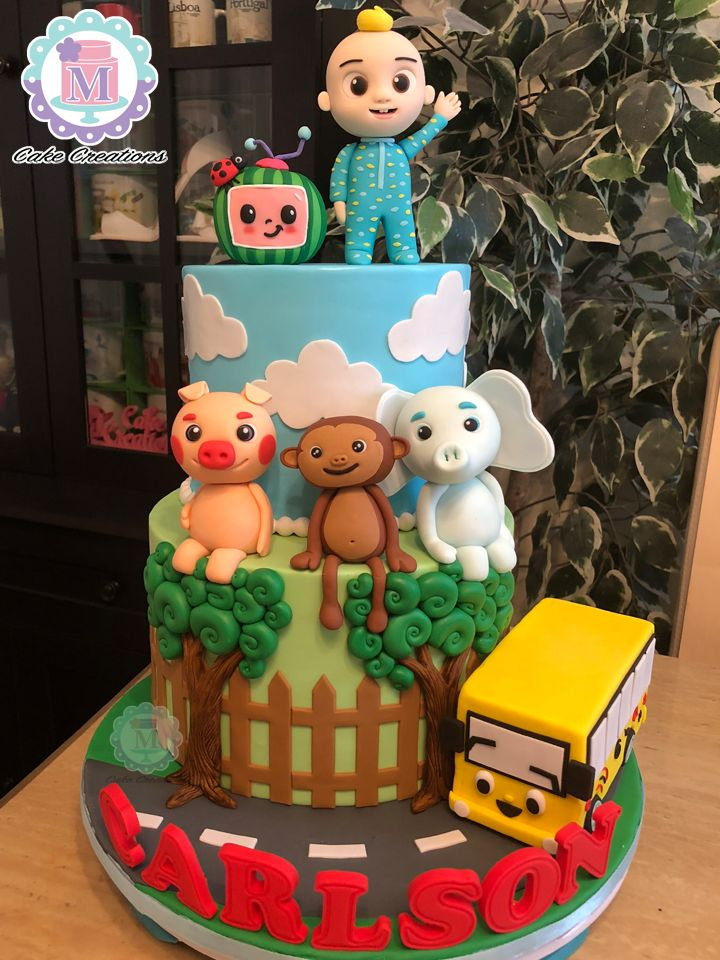Cocomelon Fondant Cakes And Cupcakes In 2019 Birthday
