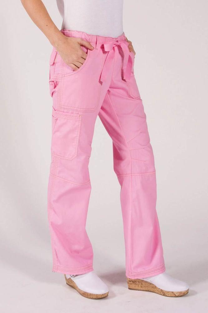 e2503b70154 Details about NWT KOI Lindsey Pink Scrub Pants Style 701-16 Size XS ...