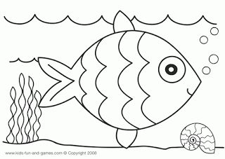 Craft Of The Day Rainbow Fish Coloring Pages Preschooler Crafts Activities Pasting