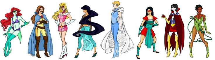 Not normally a fan of Disney but I can't resist this interpretation of the princesses.