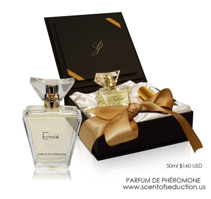 Envié Parfum de Phéromone - notes of grapefruit and bergamot open to rose and jasmine.   www.scentofseduction.us $160