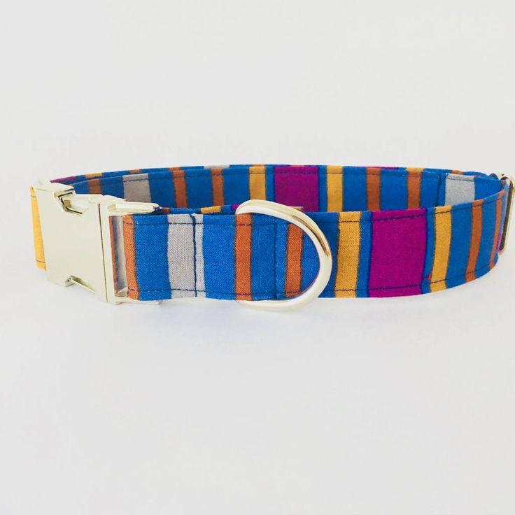 Collar perro Rayas azules Fantasia (Metal o Plástico), Collar Hebilla de clic, Collares perro, Correa perro - 4GUAUS.COM de 4GUAUS en Etsy