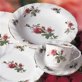 Lynns Fine China 40-Piece Dinnerware Set - Victorian Rose   Meijer.com