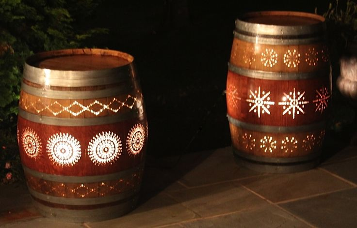 Wine Barrel Luminaries - Time to find a barrel and put the drill to use!