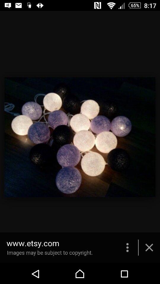 Bed string lights