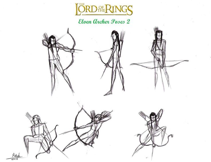 Lotr Elf Archer Action Poses 2 by halrod