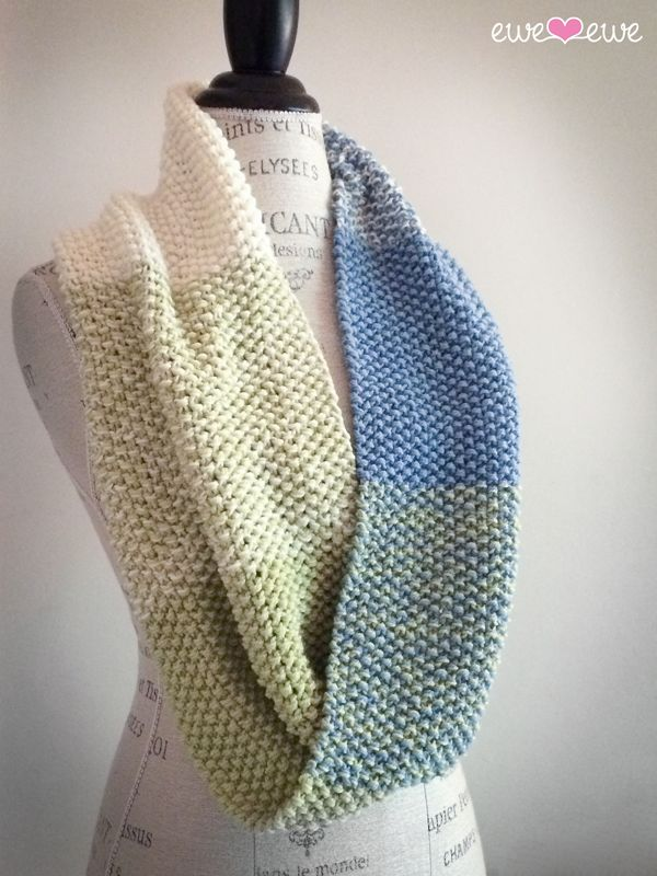 NobleKnits.com - Ewe So Sporty Color Theory Cowl Knitting Pattern PDF