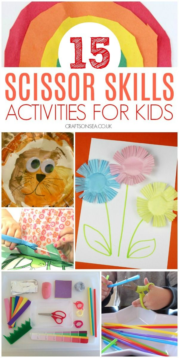 15 Easy And Fun Scissor Skills Activities For Kids Crafts And