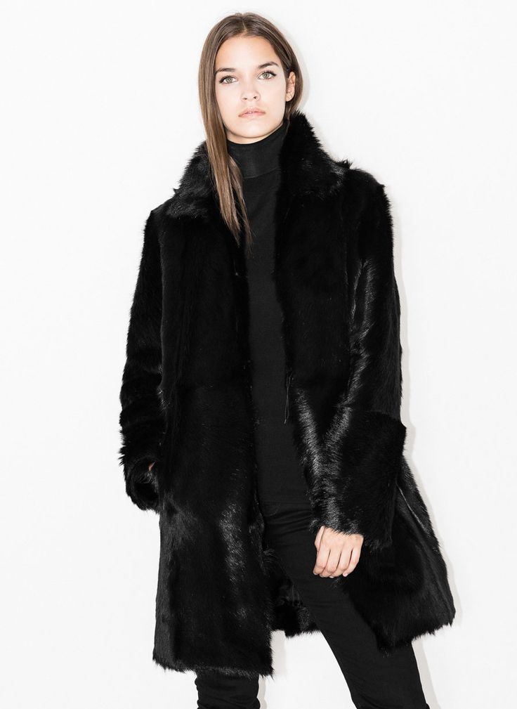 Natural fur coat - See all - READY TO WEAR - Uterqüe United Kingdom