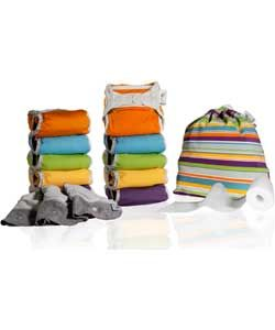 Close Parent Pop-In Reusable Nappies Middle Box - Mixed Pack