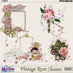 Vintage Rose Clusters