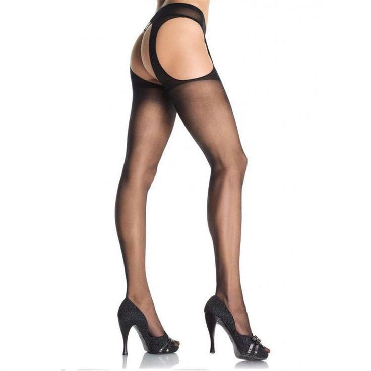 LEG AVENUE MEDIAS CON LIGUERO ADJUNTO PLUS Medias Sexys en color negro con liguero TALLA GRANDE De la prestigiosa marca LEG AVENUE. Composición: 100% Nylon »4.86€