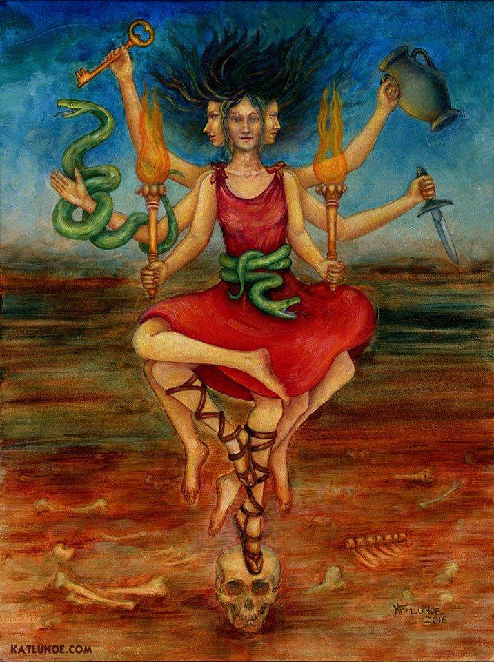 Hecate Trívia, óleo sobre tela, por Jason Miller.