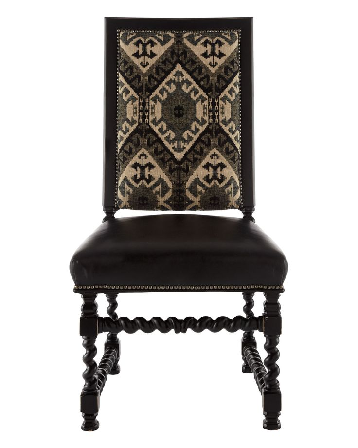 I Canu0027t Help But Love This Chair With All Its Ikat Uoholstery, Nailhead  Trim And Spindle Legs// Key City Furniture Carter Chair