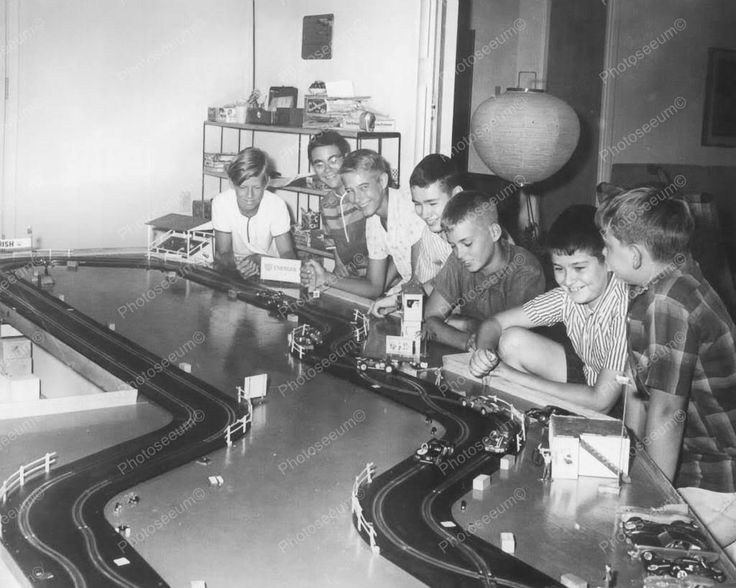 Slot Car Racing Vintage 8x10 Reprint Of Old Photo