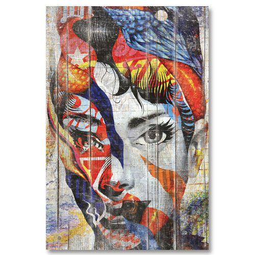 Tableau design portrait abstrait street-art
