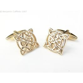 Celtic Blood Gold Cufflinks - This high quality cufflink is for the celtic blood which courses through your veins. You will have a craic with these cufflinks.