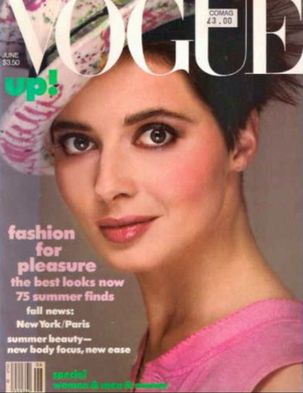 Isabella Rossellini covers Vogue magazine ( United States ...