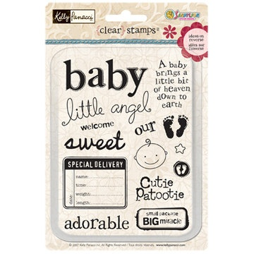 Stamps Acrylic Baby Kelly Panacci 15 piece by creativecraftsupply, $6.00