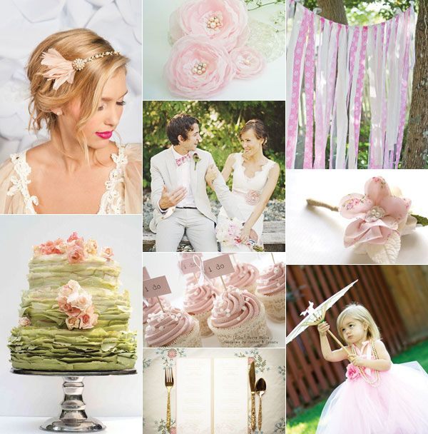 Spring in Love - Spring pinks and greens make for a lovely color combo for a fresh wedding! | Lucky in Love Wedding Planning Blog - Seattle Weddings at Banquetevent.com