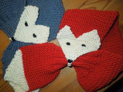 En rød ræv og en blå ræv