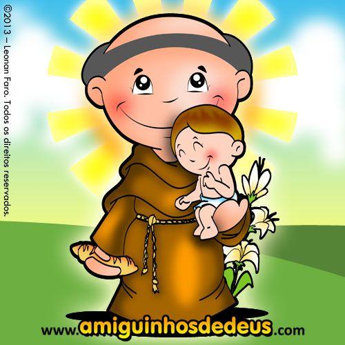 Desenho de Santo Antônio para colorir ~ Amiguinhos de Deus