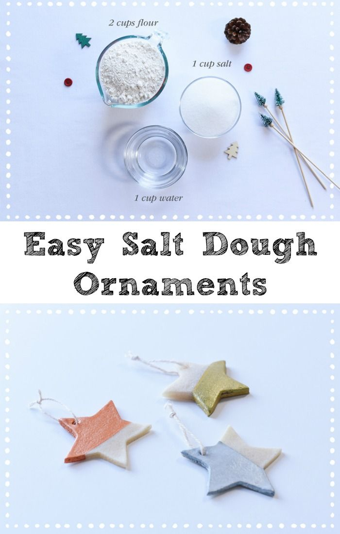Tutorial: Easy Salt Dough Ornaments for Christmas