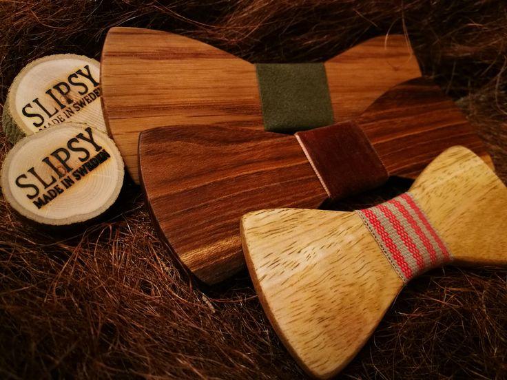 Slipsy Fashion Handcrafted Wooden Accessories - Träfluga Träslips Accessoarer   www.slipsy.se