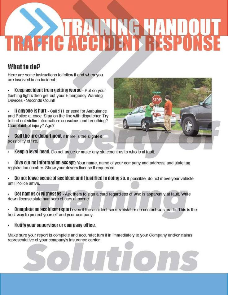 Traffic Accident Response Traffic No Response Accident