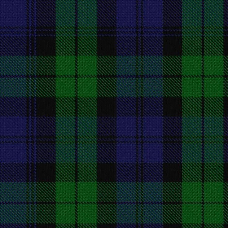 ~+~+~Black Watch Tartan ~+~+~   This tartan bears the name of the famous 42nd Royal Highland Regiment, first raised in 1729 to patrol and keep the peace within the Highlands.  The Black Watch has a long record of military service to the nation.  It's also the most worn and well known of all the Tartans, second only to the Royal Stewart.