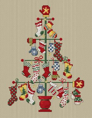 Sue Hillis Designs - A Pair Tree - Cross Stitch Pattern