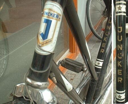 De 'nieuwe' fiets die ik op mijn twaalfde verjaardag kreeg. Een degelijke Juncker, met vlinderstuur.